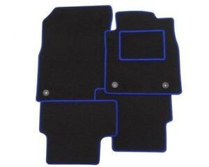Toyota HI LUX 20112016 Tailored Car Floor Mats BLACK BLUE  EDGE CLIPS - Bradford, United Kingdom - Toyota HI LUX 20112016 Tailored Car Floor Mats BLACK BLUE  EDGE CLIPS - Bradford, United Kingdom