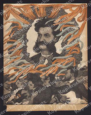 Reinhold Max Eichler Johann Strauß Musik Tanz Jugendstil Altösterreich Wien 1901 Spezieller Sommer Sale Design & Stil