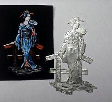 Flachfigur Zinnfigur Geisha Gesamthöhe 90mm Flat Figure