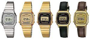 Casio-Collection-Digital-Alarm-Chronograph-Ladies-Watch-Blue-Gold-Brown-Black