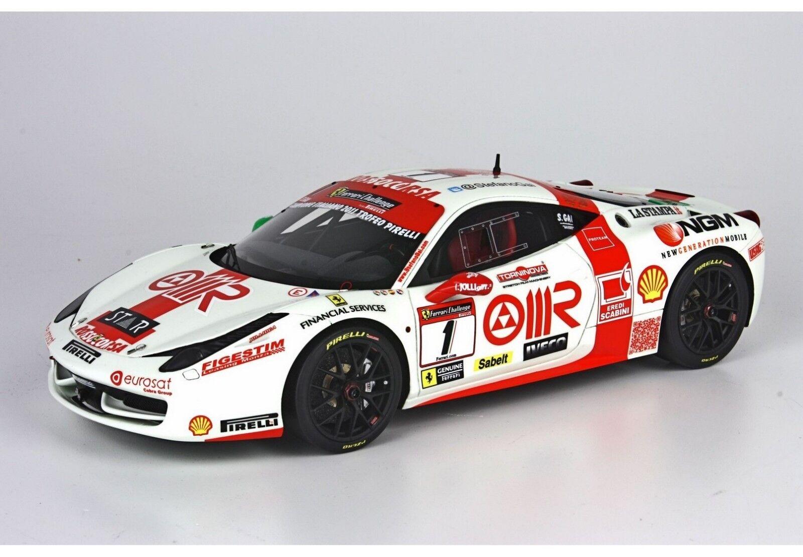 clásico atemporal 1 18 Ferrari 458 Gai Monza 2011 2011 2011 1 18 • BBR P1833B  buena calidad