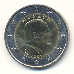2-Euro-Monaco-2009-Fuerst-Albert-II-Kursmuenze-rar
