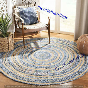 Carpet 3x3 Handmadejute Round Braided