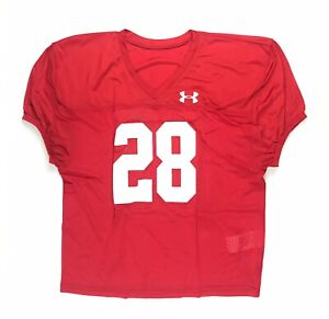 New-Under-Armour-Men-039-s-Large-Football-Stock-Pipeline-Practice-Jersey-Red-28