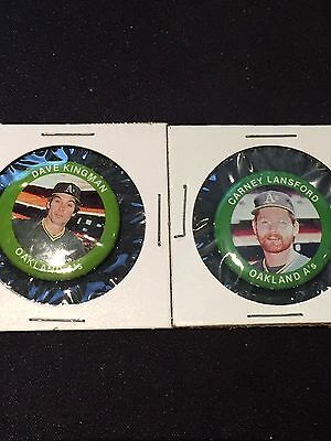 -1984 Vintage Collectables-fun Foods Ehrlich Oakland Athletics Pin-flagge Lot- 2