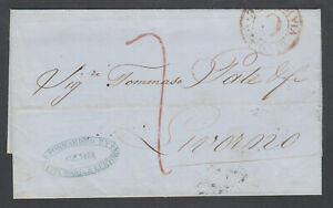 Italy-1855-Stampless-GENOA-LIVORNO-by-Santa-Maria-amp-Lertora-Forwarding-Agent