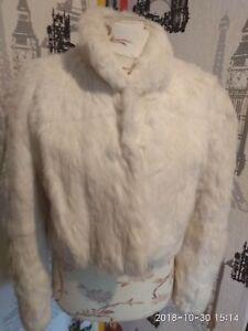 New Natural fourrure de lapin Homme Manteau Noir Veste.   eBay