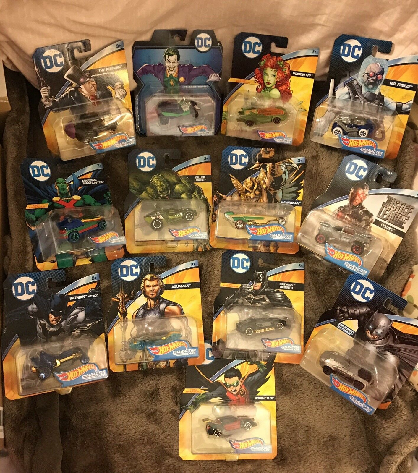 2018 Hot Wheels DC Comics Character Cars Lot Of 14