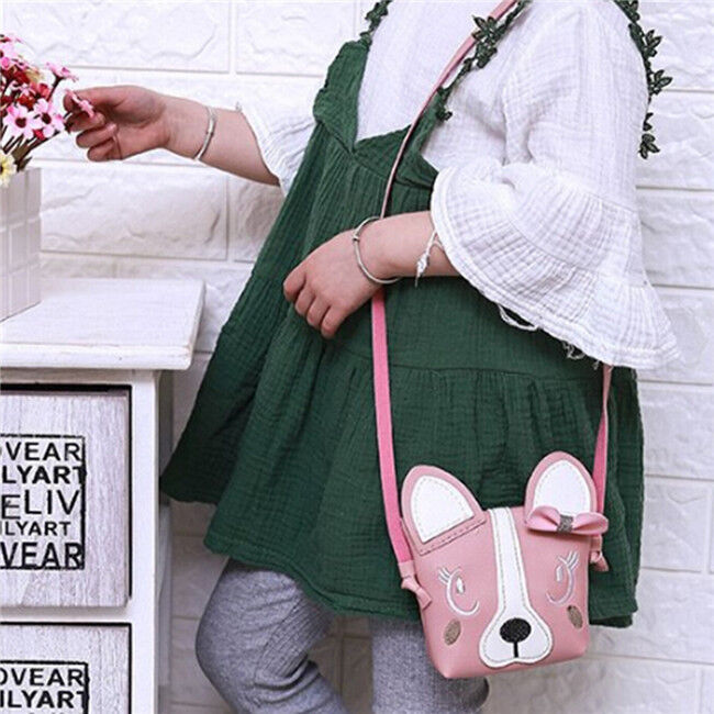Lovely Animal Print Messenger Bag Exquisite Purse Mini Girl Kids Cartoon Bag FI