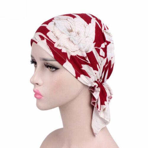 Women Muslim Stretch Turban Hat Chemo Cap Hair Loss Head Scarf Wrap Hijab Cap