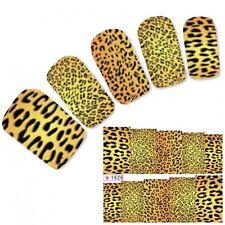 Tattoo Nail Art Aufkleber Glitzer Muster Sticker Leopard Water Decall Neu!