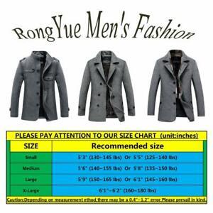 RongYue-Men-039-s-Winter-Cotton-Parka-Jacket-Military-Fur-Lined-Black-Size-Small-v