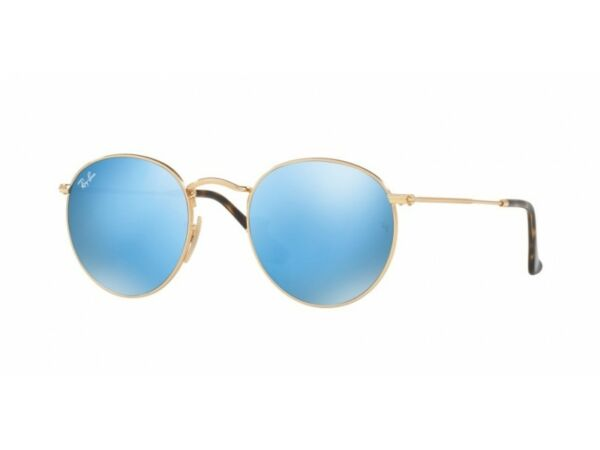 Agresivo Occhiali Da Sole Ray Ban Limited Sunglass Rb3447n Round Metal Cod. Colore 001/9o Los Colores Son Sorprendentes