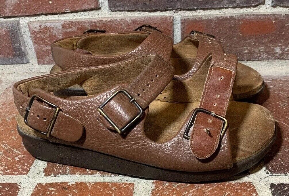 SAS 'Relaxed' Amber Brown Extra Wide Sandals - Women's Size 9