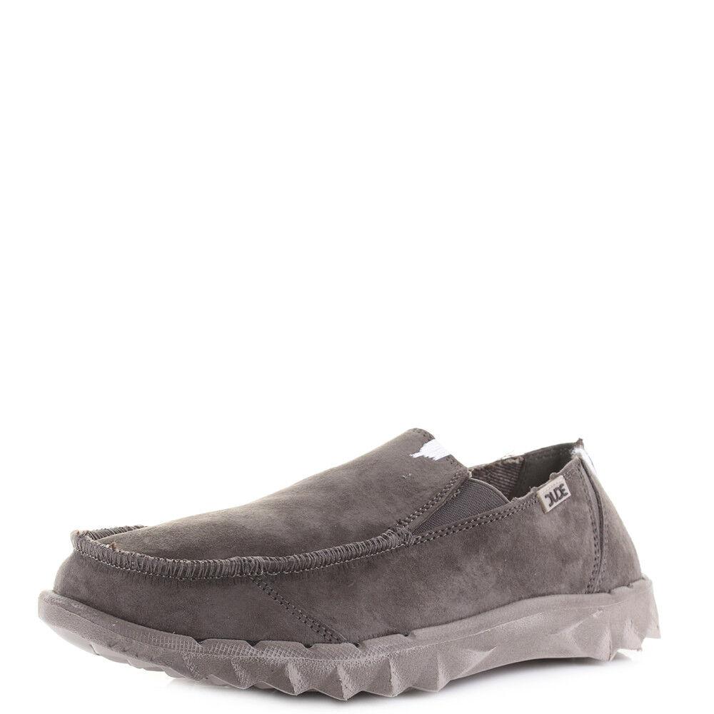 Herren Dude Schuhes Farty Suede Bruno Natural Braun Lightweight Loafers Schuhe Größe 614285