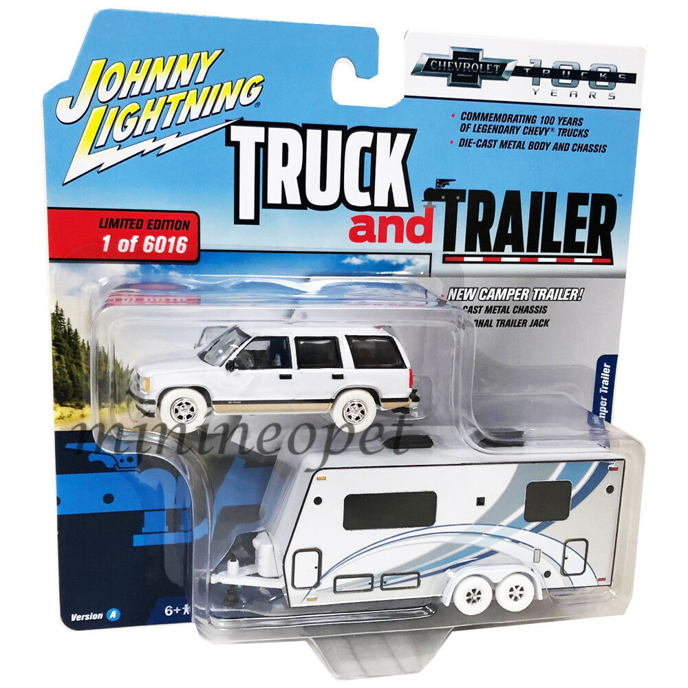Johnny Lightning jlsp 016 016 016 Camión Y Trailer 1997 Chevy Tahoe 1 64 blancoo Chase 7d4da8