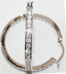 Channel-Eternity-Diamond-Alternative-Hoop-Earrings-14k-White-Gold-over-Base-35mm