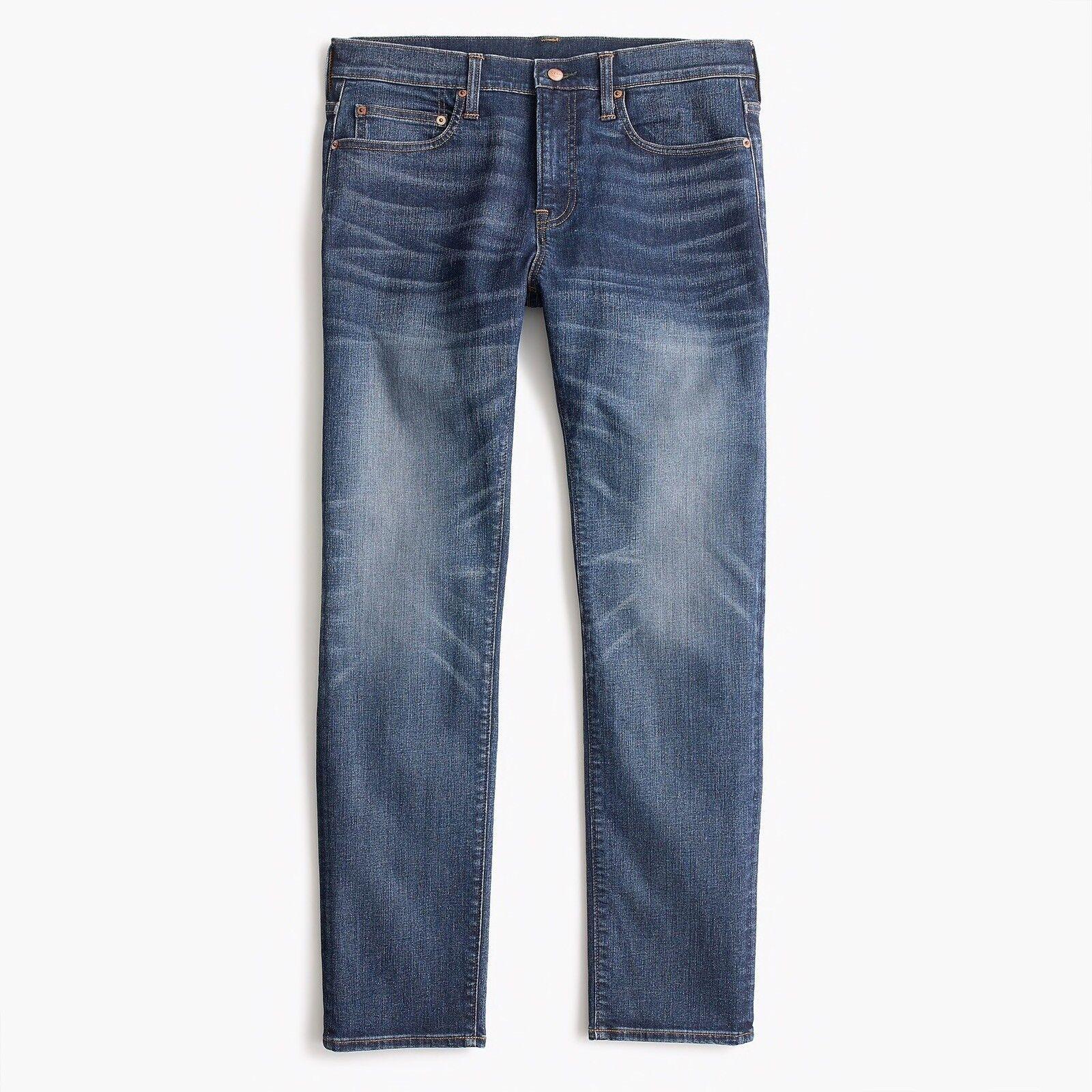New J CREW 34 x 32 484 Slim-fit Stretch Jeans in Dalton Wash Item H7169