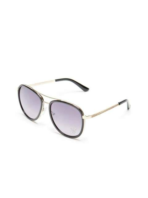 GUESS Factory Women's Rhinestone G Aviator Sunglasses