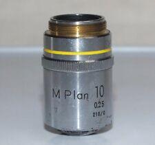 NIKON M-PLAN Metallurgical Microscope Objective 10x 0.25 210/0