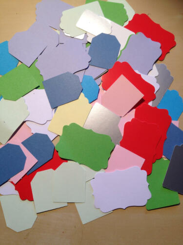 Craft Room Clear Out Scrapbooking 50 Gift Tags for Card Making