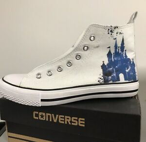 fb1cca883366 Image is loading Disney-Castle-Kids-Custom-Converse-Shoes-Character- Personalised-
