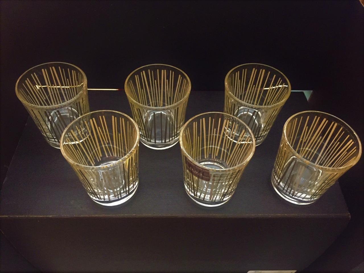 EGIZIA BAMBU' SET OF 6 GLASSES 2001 Made in  Brand new in box Free Shipping