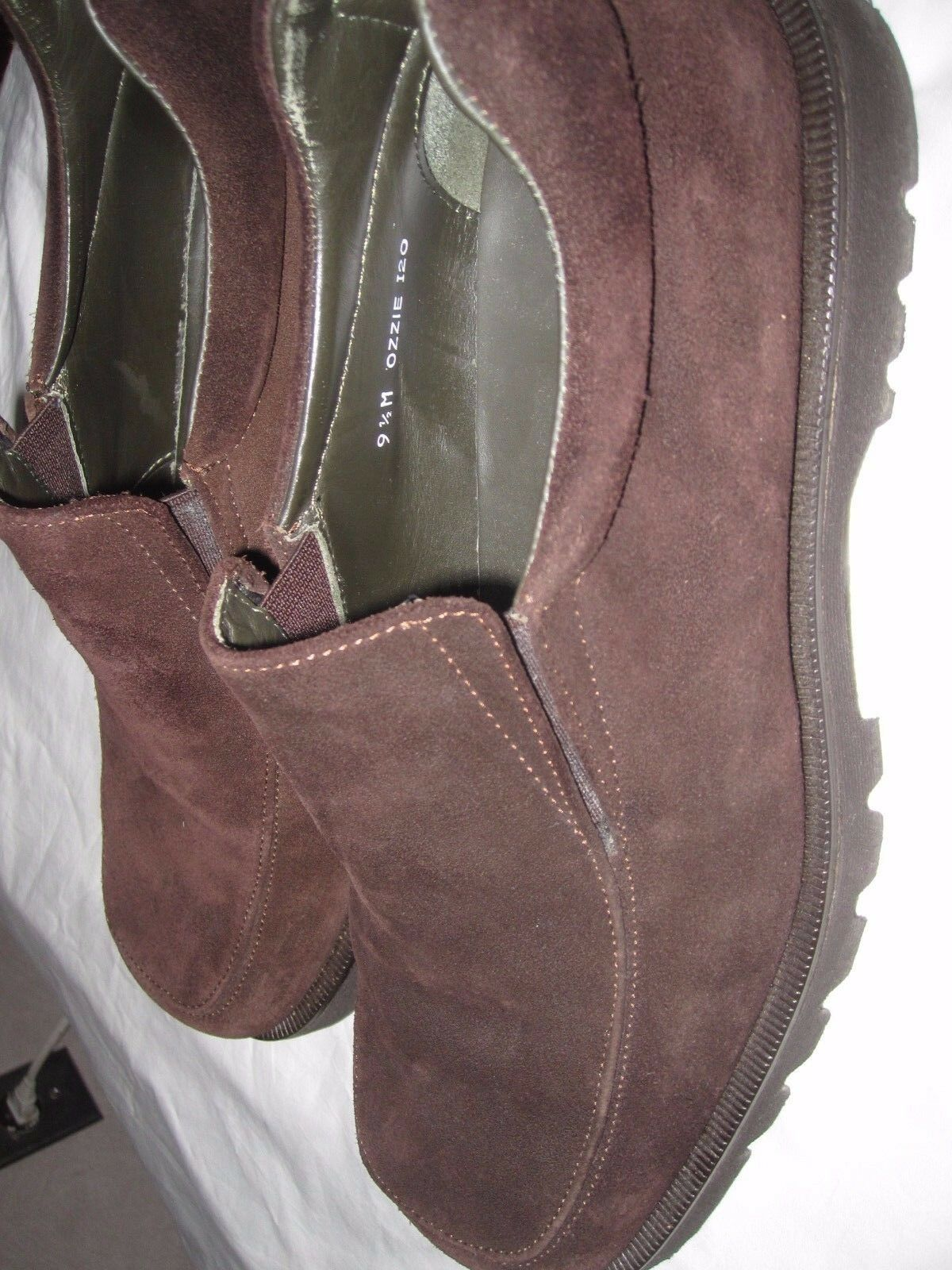 Donald J Pliner Ozzie Italy Tassel Loafers Brown Suede Moccasin Slip On Sz 8.5 Scarpe classiche da uomo