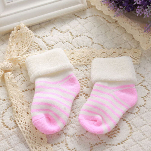 High Quality Baby Kids Socks Towel Cotton Thick Striped Warm Boots 0-3 years