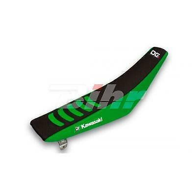 Funda de asiento Doble agarre 3 negro/verde 1421H compatible con KAWASAKI KX 25