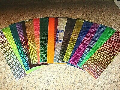 """12/"""" x 3/"""" 2 PK 1//8/"""" Holographic Fish Scale Fishing Lure Tape In 14 Colors"""