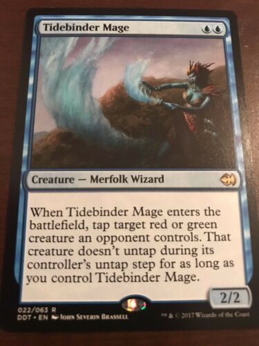 Merfolk many 4 Magic the Gathering 4x TIDEBINDER MAGE MTG Duel Deck Goblins vs