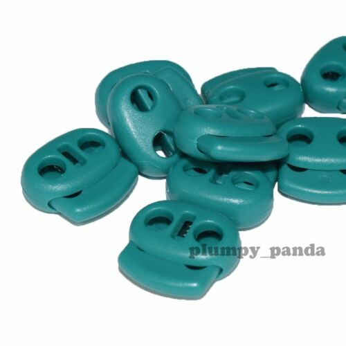"""OVAL Cordlock 2 holes 3//16/"""" Cord Lock End Stopper Toggle Spring Choose Color"""