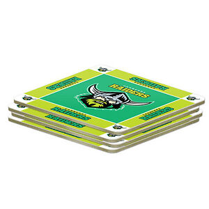 Canberra-Raiders-NRL-4-Pack-Coasters-Coaster-NRL-OFFICIAL-MERCHANDISE