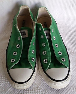 Details about Vintage Converse Shoes Chuck Taylor All Star Green Canvas Unisex USA Old School