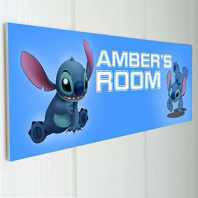 Personalised Blue Dino Sign metal Wall Door Bedroom Plaque Home Gift Print