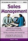 Sales Management by Robert J. Calvin (Paperback, 2004)