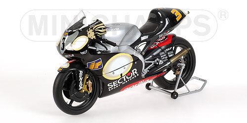 APRILIA RSV250 MS M.MELANDRI WORLD CHAMPION GP 2002 122020003 1 12 Minichamps
