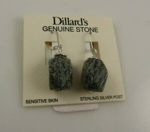Sterling-Silver-Dillards-Genuine-stone-wire-earring-earrings-925-xmas