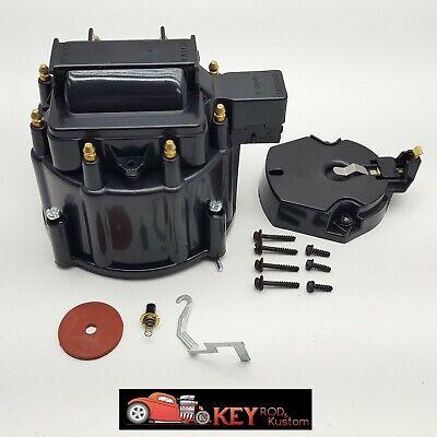 GM HEI black distributor cap /& rotor set SBC BBC replacement 65,000 volt Chevy