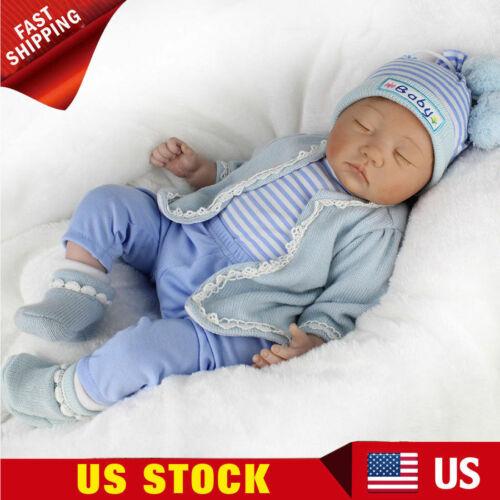 22/'/' Sleeping Vinyl Silicone Reborn Baby Dolls Handmade Gifts Doll Newborn Dolls