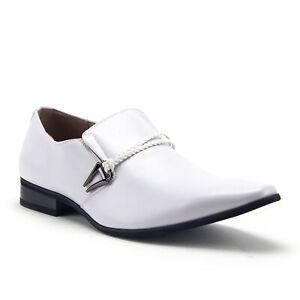 Belted Pointed Toe Loafers Dress Shoes