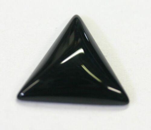 4pcs Black Onyx Triangle Cabochon 6mm 8mm 10mm 12mm 14mm 16mm Gems Jewelry Cabs