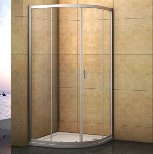 Offset Quadrant Shower Enclosure & Tray Corner Cubicle Glass Door ...