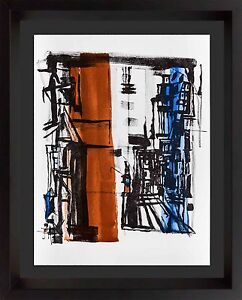 Vieira Da SILVA Original COLOR LIMITED Edition LITHOGRAPH 1977 +Custom FRAMING