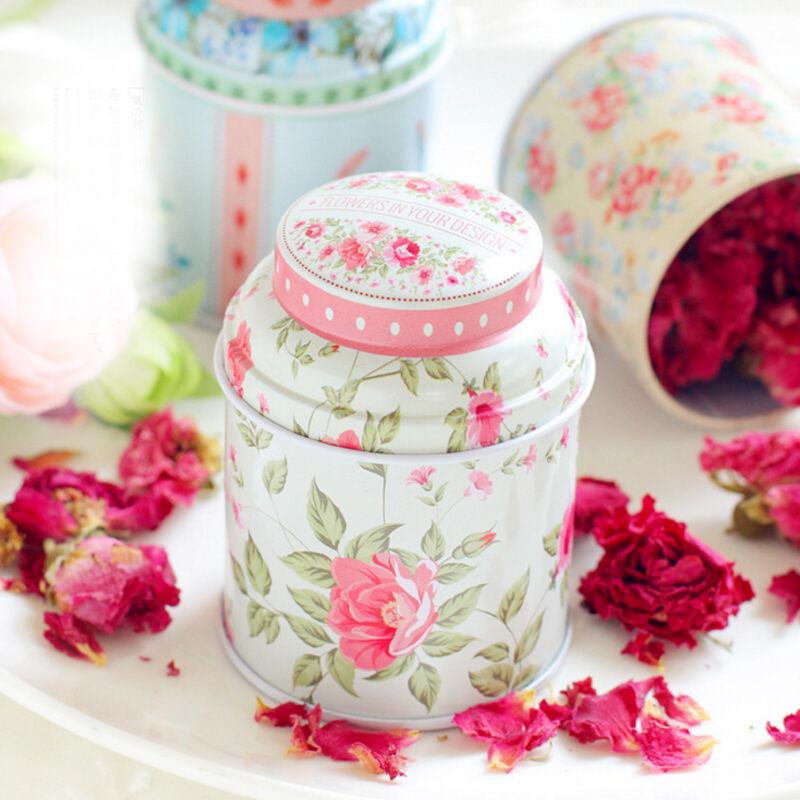 Small Empty Tinplate Tin Tea Can Storage Box Organizer for Jewelry Candy Case