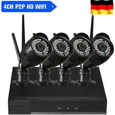 4CH 1080P HD WiFi NVR 4pcs 1080P 2MP Wasserdicht Bullet IP Kamera CCTV Kit T4E2