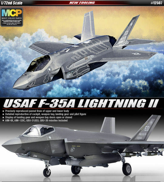 USAF F-35A Lighning II Fighter Plastic Kit 1 72 Model ACADEMY