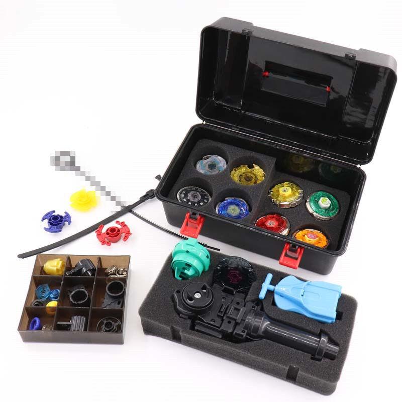 Bey Blade Set Toys Box 20 Reservdelar 8 Beyblades Hanterar 2 Stkonstjärna Barn Game