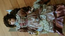 """Emerald Collection """"Judith"""" Hand Painted Porcelain Doll in the box"""